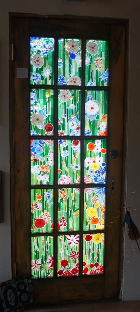 Stained Glass Designs For Doors Door Flowers Stained Glass Ideas