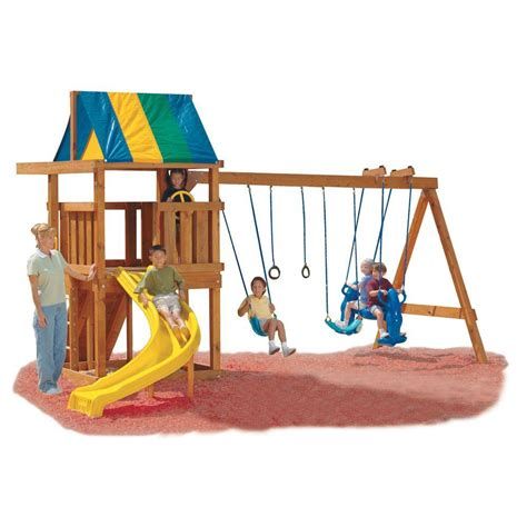 swing set kit with slide swing n slide wrangler diy play set hardware kit custom