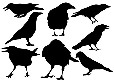 silhouette vector free raven silhouette vector download free vector art