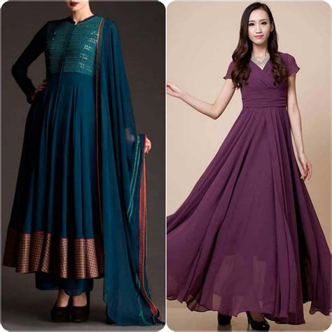 dress design cutting video best umbrella frock designs for asian ladies stylo planet