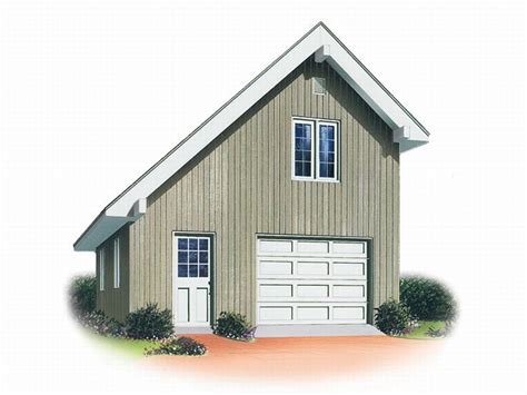 One Car Garage With Loft by Garage Loft Plans 1 Car Garage Loft Plan 028g 0001 At