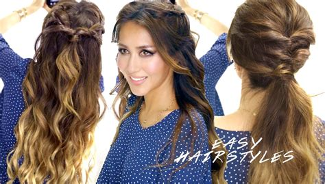 Easy Hairstyles For School In 10 Minutes by Easy Hairstyles In 5 Minutes Faux Braids