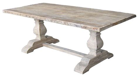 Salvaged Wood Trestle Dining Table Dining Table Salvaged Trestle Dining Table