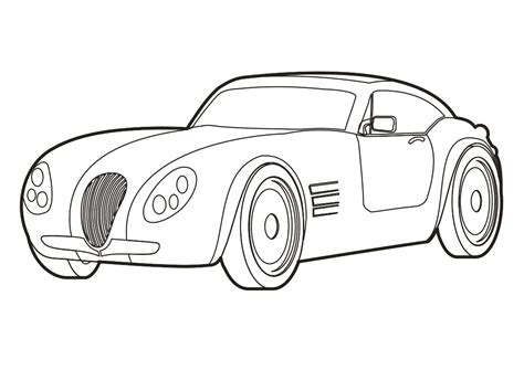 sports car drawing vehicle outlines vehicle ideas