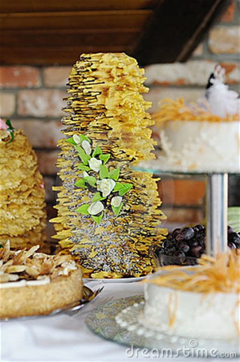Wedding Congratulations In Lithuanian by Traditional Lithuanian Wedding Cake Stock Photo Image