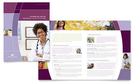 Women S Health Clinic Brochure Template Design Mental Health Brochure Templates