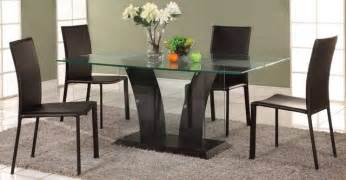 Contemporary Glass Dining Table Sets Extravagant Rectangular Wooden And Clear Glass Top Leather Modern Dining Set Contemporary