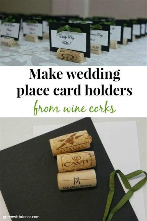 how do i make wedding place cards green with decor wedding place cards from wine corks