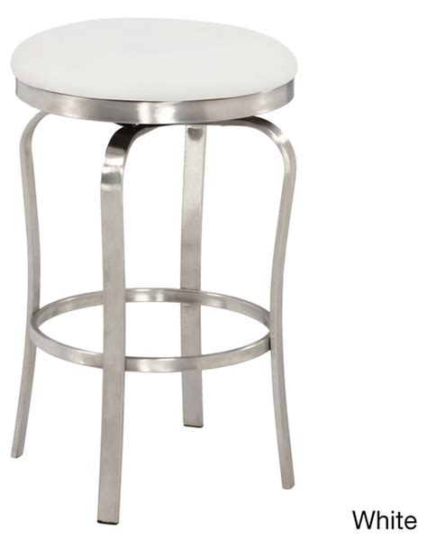 Stainless Steel Backless Bar Stools by Modern Backless Upholstered Stainless Steel Counter Stool