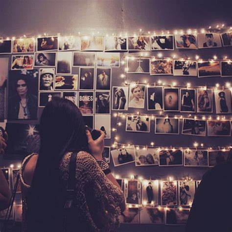 how to hang polaroid lights photo wall w lights