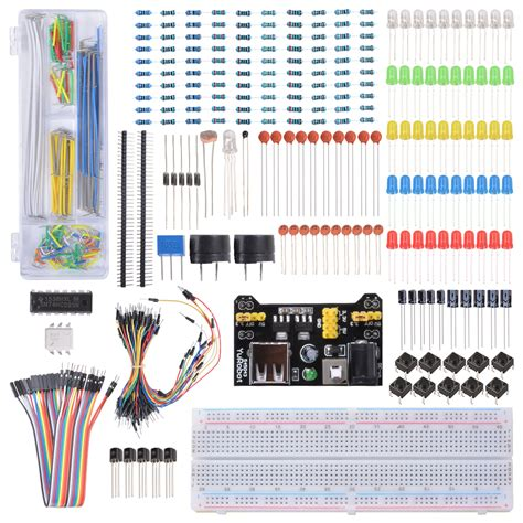 what resistor for led arduino electronics components learning kit with resistors switch led for arduino te715 ebay