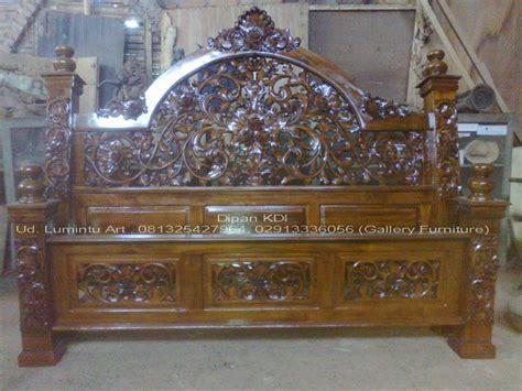 Dipan Ukir Kayu Jati dipan tempat tidur jati ukir type kdi size 180x200cm ud lumintu gallery furniture