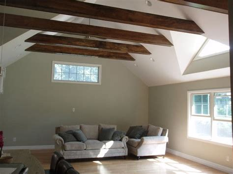 exposed beams exposed horizontal beams with drywall ceiling bedroom