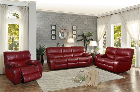 red leather sofa set homelegance pecos reclining sofa set leather gel match