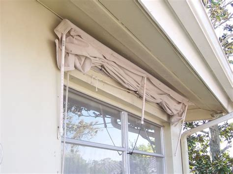 How To Build A Retractable Awning by Retractable Window Awning Made Of Pvc Frame Drop Cloth