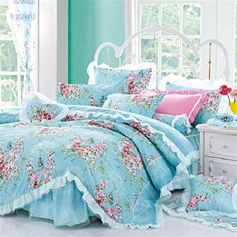 best bedding best bedding set 4 piece cotton printed pink rose floral