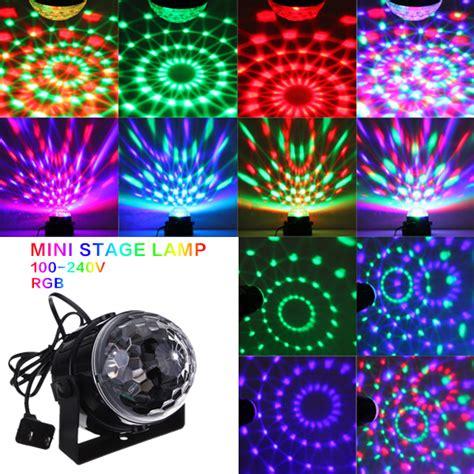 mini disco ball light mini rgb led crystal magic ball stage effect lighting l