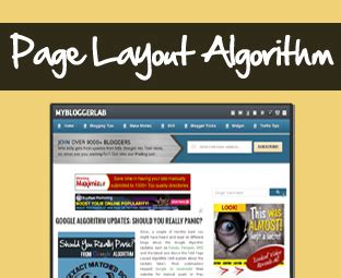 page layout algorithm update my blogger lab what is google page layout algorithm