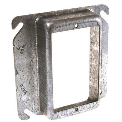 4 in. Square Single Device Mud Ring with 3/4 in. Raised