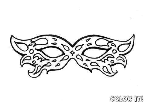 Free Mask Coloring Pages With Carnival Mask Coloring Pages Masks Coloring Pages