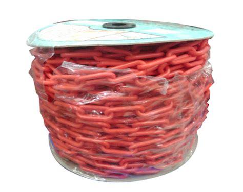 Bahan Rantai Merah Per Meter supplier prasarana lalu lintas rantai plastik