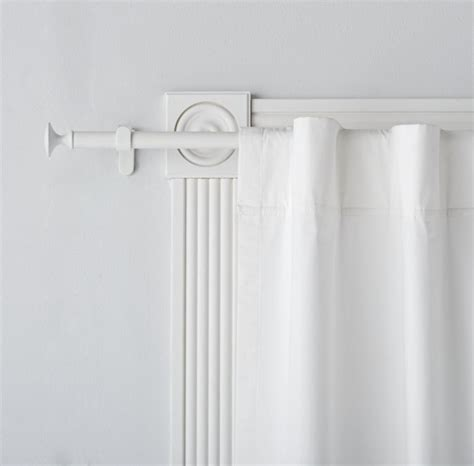 single white curtain rod  land  nod