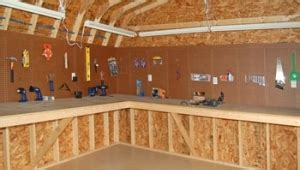 workbench with pegboard and light shelves lofts workbenches and more pine creek structures