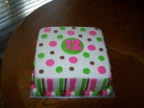 heather calvin cakes 12 year old birthday cake with strips and polka dots