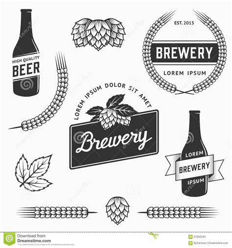 beer vector vintage brewery labels cartoon vector cartoondealer com