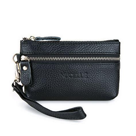 genuine leather clutch bag black