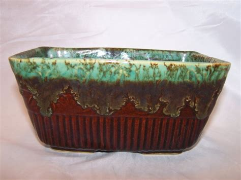 Rrp Co Roseville Ohio Pottery Planter brown green drip planter rrp co roseville ohio usa