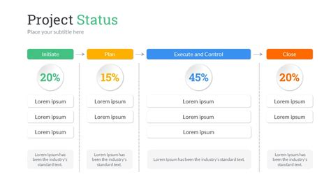 status update template powerpoint project status powerpoint presentation template by sananik