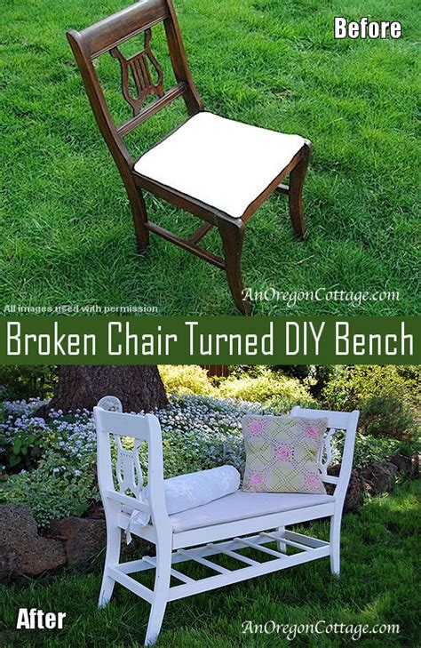 chairs into bench how to turn broken chairs into a diy bench