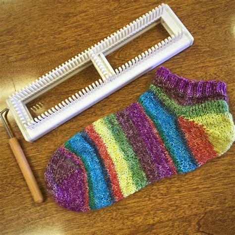 knit loom learn to loom knit sock class yarn and needles