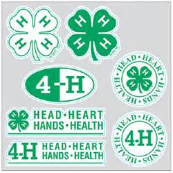 4 H Clover Stickers