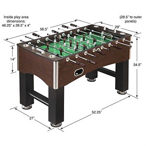 size foosball table hathaway 56 inch primo foosball table family soccer