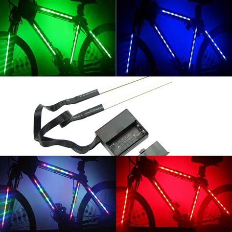 Led Light Strips For Bikes On Sale Decorative 14 Led Bike Frame Light Strips Rm35 90 All Gifts Bicycle Equipment