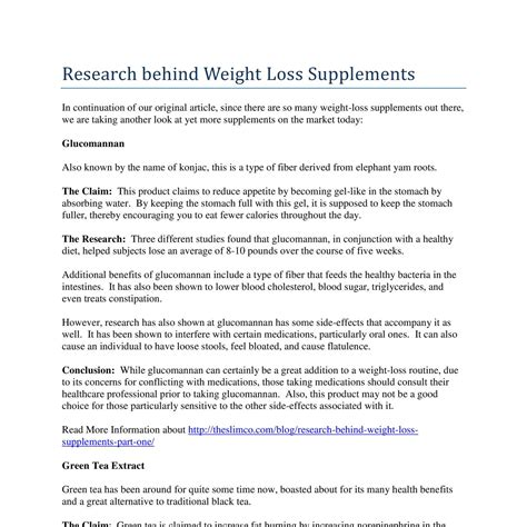 9 weight loss supplements research weight loss supplements pdf docdroid