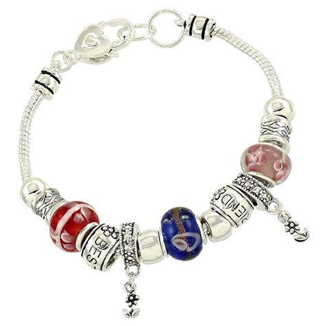 best friend murano charm bead bracelet pandora inspired