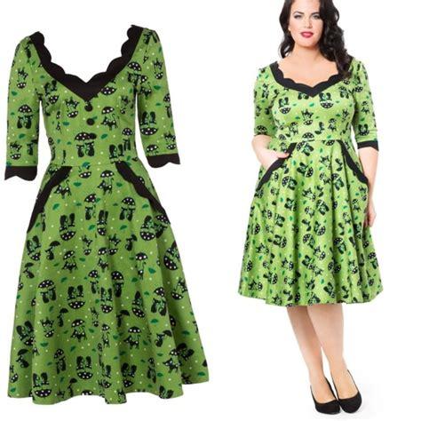 Plus Size 50s Dress Pluslook Eu Collection