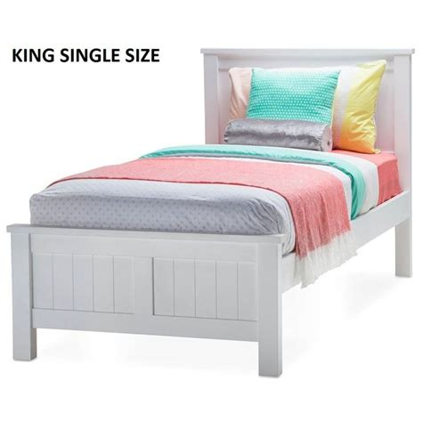 King Size Single Bed Frame Snow King Single Size Wooden Bed Frame In White Buy King Single Bed Frame