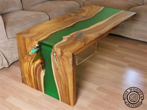 live edge river table epoxy wooden creations live edge river furniture
