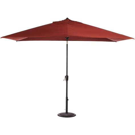 5 Ft Patio Umbrella Home Decorators Collection 6 5 Ft Aluminum Auto Tilt Patio Umbrella In Sunbrella Henna