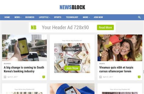 newspaper theme blocks newsblock news magazine wordpress theme by happy themes