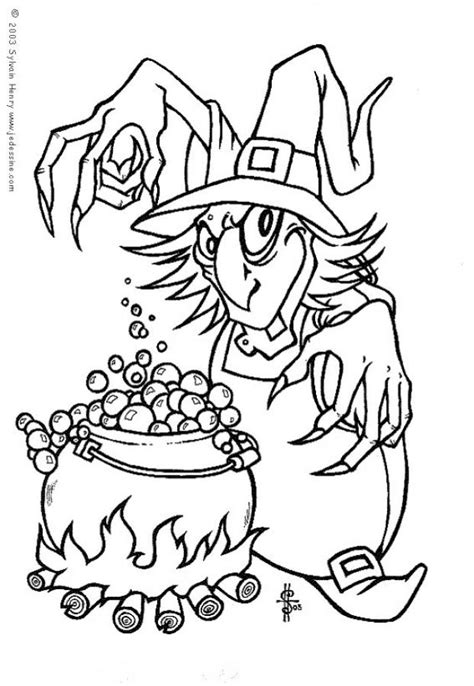 mean witch coloring page mean witch s potion coloring pages hellokids com