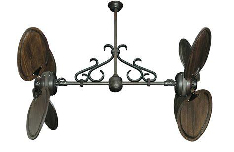 double blade ceiling fan dans fan city miami twin star ii double ceiling fan with