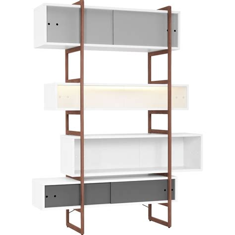 bookcase with sliding ladder mio bookcase storage unit with sliding doors vox
