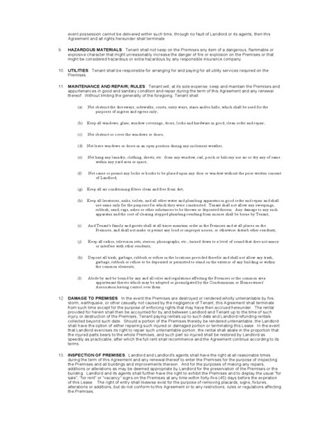New York Standard Residential Lease Agreement Template Free Download New York State Lease Agreement Template