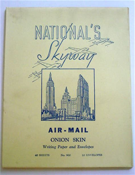 skin writing paper vintage national s skyway air mail skin writing