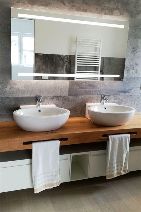 lavabo con mobile per bagno mobile bagno doppio lavabo con mensola in legno